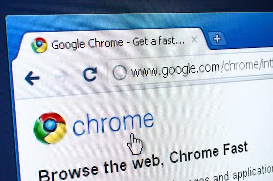 Google Chrome muss aktualisiert werden.