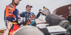 KTMs Dakar-Hoffnung stürzt schwer und verletzt sich