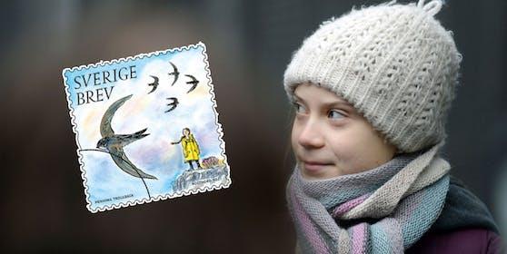 Greta Thunberg wird mit einer Briefmarke geehrt.