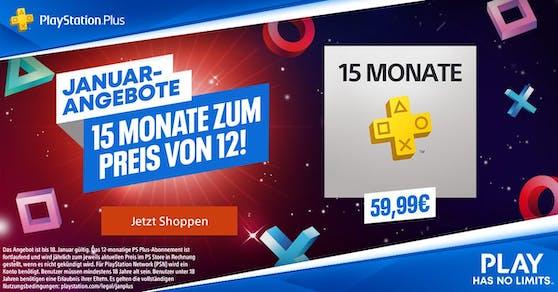 Österreich: Mitgliedschaft 15 Monate zum Preis von 12 Monaten im Angebot für 59,99 Euro.
