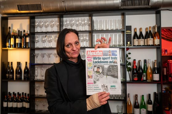 """Sie hat's sogar aufs Titelblatt geschafft! """"Heute"""" hat als erstes Medium vom Vorhaben der Gastronomin berichtet. Jetzt bereitet sie sich auf einen Auftritt bei Servus TV vor."""