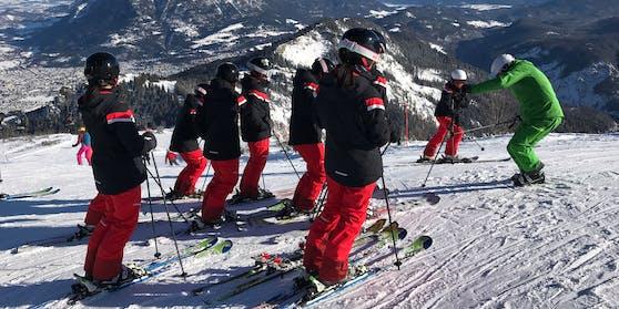 Die Briten wollten eine Ausbildung zum Skilehrer machen.