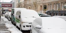Dichter Schneefall in Wien, das Weekend wird winterlich