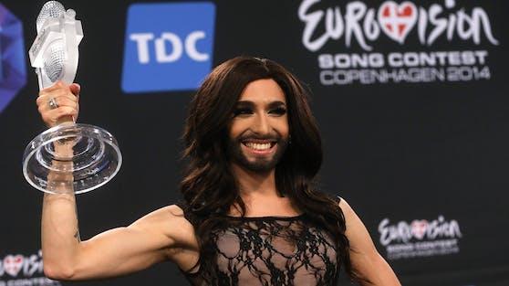 """Conchita Wurst holte mit """"Rise Like A Phoenix"""" 2014 den Eurovision-Songcontest-Sieg nach Österreich."""