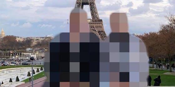 Dieses Urlaubsfoto des Paares aus Paris reichte dem Zollbeamten nicht als Beweis für die Beziehung der beiden Männer.