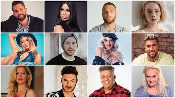 """Diese 12 Promis kämpfen bei """"Ich bin ein Star – Die große Dschungelshow"""" um das goldene Ticket fürs Dschungelcamp 2022."""