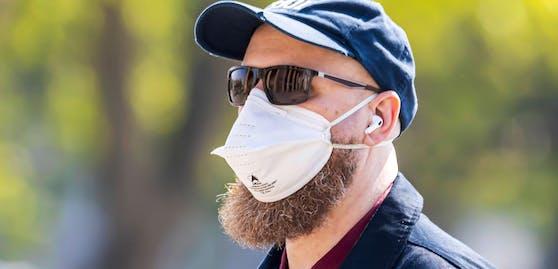 Bärte sollen die Wirksamkeit von FFP2-Masken erheblich einschränken.