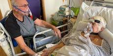 Paar kämpft mit Virus, darf am Sterbebett zusammen sein
