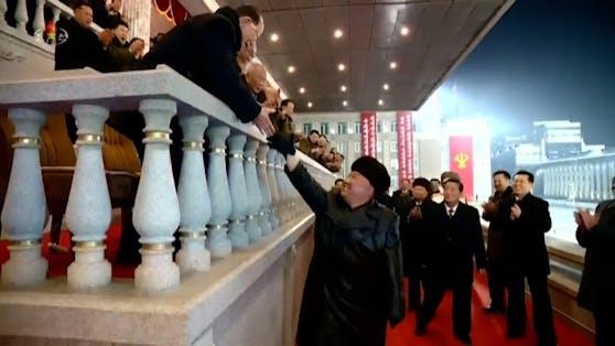 Kim Jong-un ließ sich feiern.