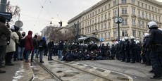 Antifa mit neuer Taktik gegen Wiener Corona-Demo