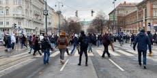 Corona-Demo legt am Samstag Wiener City lahm