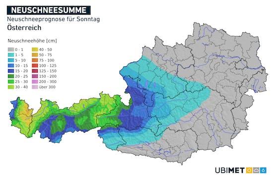 Am Sonntag, 17. Jänner 2021, schneit es im Westen zeitweise auch kräftig.