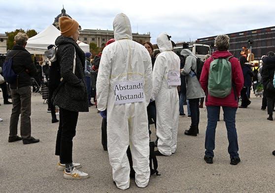 Archivbild: Demonstration gegen die Corona-Maßnahmen am 31. Oktober 2020 in Wien.