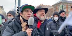 Video zeigt Wut und Eskalation bei Anti-Corona-Demos