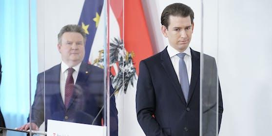 Michael Ludwig neben Kanzler Kurz  – eine seltene Kombi.