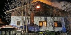 Großeinsatz für Feuerwehr, Wohnhaus stand in Vollbrand