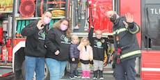 Feuerwehr erfüllte krankem Kind (5) Herzenswunsch