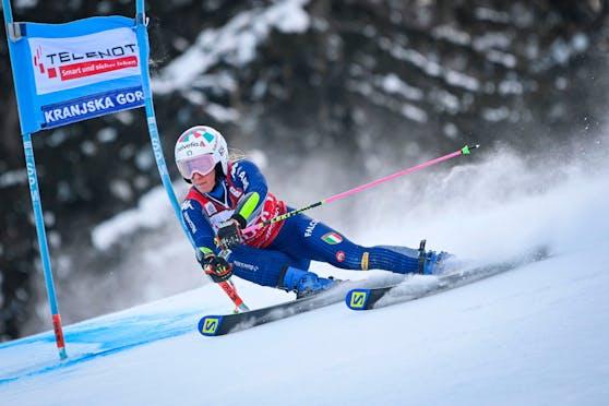 Die Italienerin Marta Bassino triumphiert in Kranjska Gora.