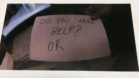 Mit dieser versteckten Notiz konnte der Junge gerettet werden.