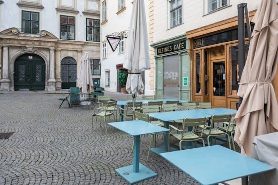 Die Cafes und Restaurants in Österreich sind verwaist.