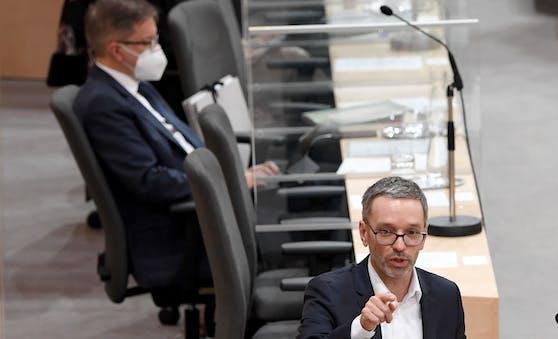 FPÖ-Klubchef Herbert Kickl will Gesundheitsminister Rudi Anschober (Grüne) anzeigen.