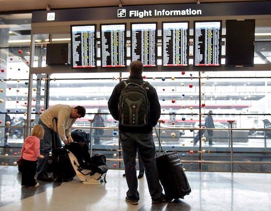 Der 36-Jährige traute sich nicht, das Flughafengelände zu verlassen. (Symbolbild)
