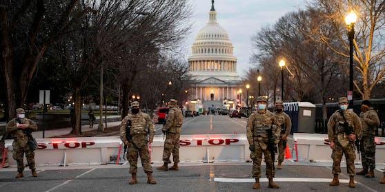 In den USA wurden strenge Sicherheitsvorkehrungen vor der Amtseinführung von Joe Biden als neuer US-Präsident getroffen.