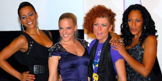 Nadja Benaissa, Sandy Moelling, Lucy Diakowska und Jessica Wahls
