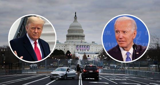 Donald Trump scheidet aus dem Amt, Joe Biden übernimmt als US-Präsident.