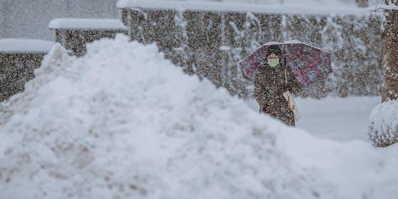 Schnee in Österreich.