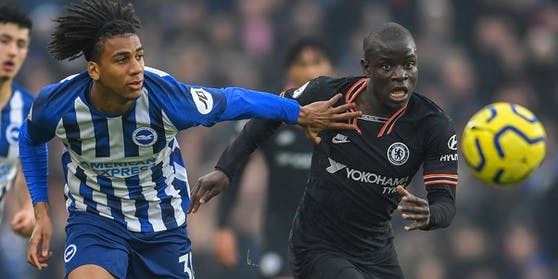 Bernardo (l.) im Duell mit Chelsea-Star Kante