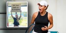 """Fenster zu! Tennis-Star fordert: """"Wir brauchen Luft"""""""