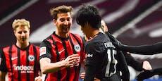 2:1! Hütter stellt Leverkusen mit Frankfurt ein Bein