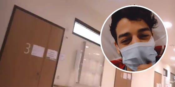Ben Saber war um Punkt 00.00 Uhr alleine im Spital.