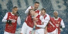 4:0! Arsenal behält im Schneetreiben den Durchblick