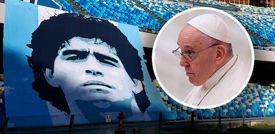 Papst Franziskus spricht über Diego Maradona.