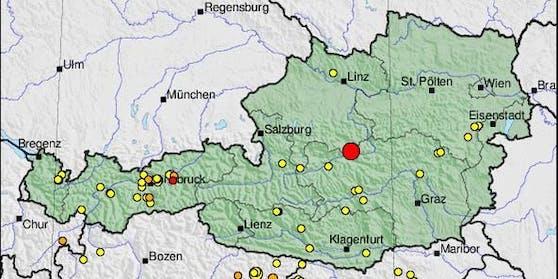 In Ardning (Bezirk Liezen) bebte Endee Jänner mit einer Stärke von 4,5 die Erde