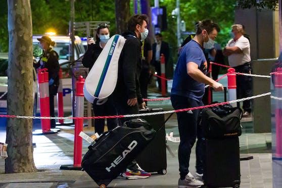 Stan Wawrinka bei seiner Ankunft im Hotel.