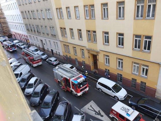 Feuerwehr-Einsatz in der Schelleingasse (Wieden)