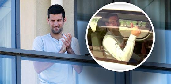 Novak Djokovic wurde in Australien ohne Maske erwischt.