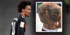 """""""Bling-Bling!"""" Leroy Sané bereut sein Rücken-Tattoo"""