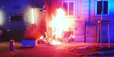 Meterhohe Flammen in Baden! Verteilerkasten in Brand