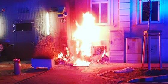 In Baden brannte eine Hausfassade.