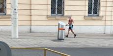Wiener Jogger läuft halbnackt vor dem Winter davon