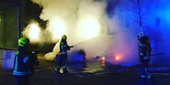 Die Feuerwehr Stadt Baden konnte den Brand rasch löschen.