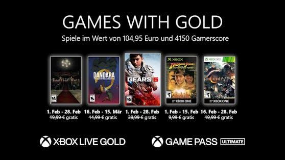 Games with Gold: Diese Spiele gibt es im Februar gratis.