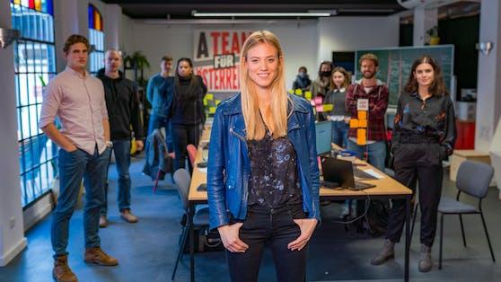 """Mit dem engagierten """"A-Team für Österreich"""" war Larissa Marolt noch bis vor kurzem in ganz Österreich unterwegs."""