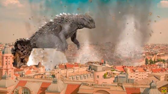 """""""Folgen eines Godzilla-Angriffs auf Wien"""", nennt sich die Persiflage auf das Atombomben-Video des Außenministeriums"""
