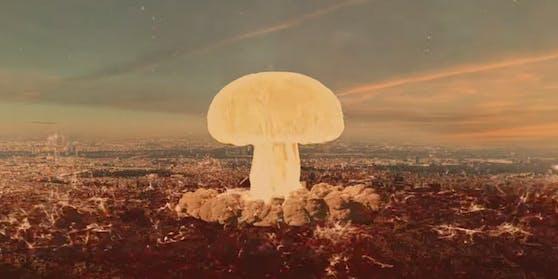 Das Video des Außenministeriums zeigt einen Atompilz über Wien.