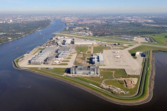 Airbus-Werksgelände in Finkenwerder